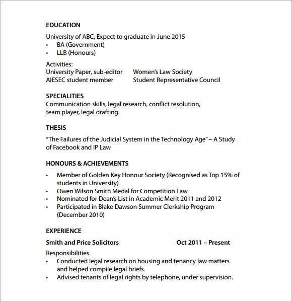 Contract attorney resume sample - Online resume