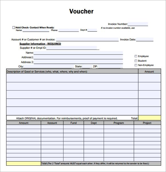 voucher sample format - Ozilalmanoof - example of a voucher