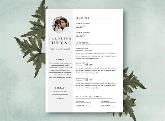 photographer cv template