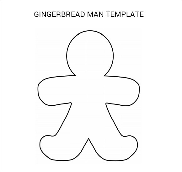 Gingerbread Man - 8 + Documents in PDF, PSD, Vector - gingerbread man template