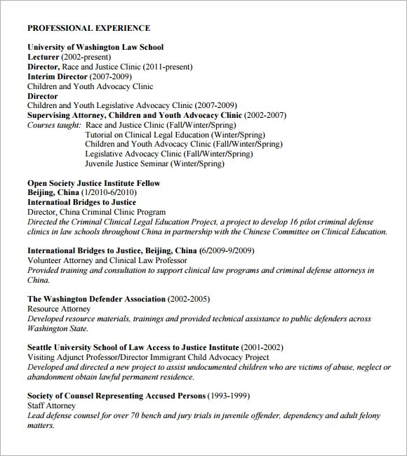 Monash Law Sample Resume