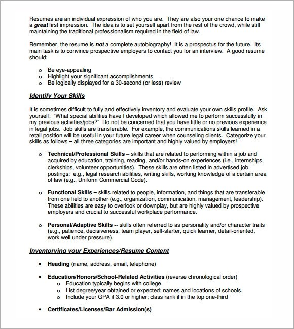 Lawyer Resume Templates  Lawyer Resume Template