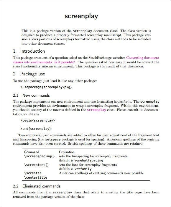 screenplay template - Selol-ink