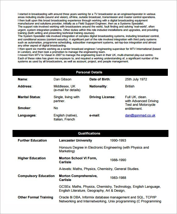 6 Sample Network Engineer Resume Templates to Download Sample - network engineer resume format