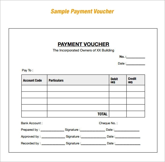 Payment Voucher Sample - 7+ Documents in PDF