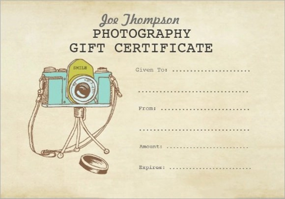 12 Sample Attractive Photography Gift Certificate Templates Sample - gift certificate download