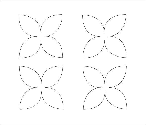 10 Beautiful Sample Flower Petal Templates Sample Templates - flower template