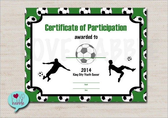 17 Sample Football Certificate Templates to Download Sample Templates - football certificate template