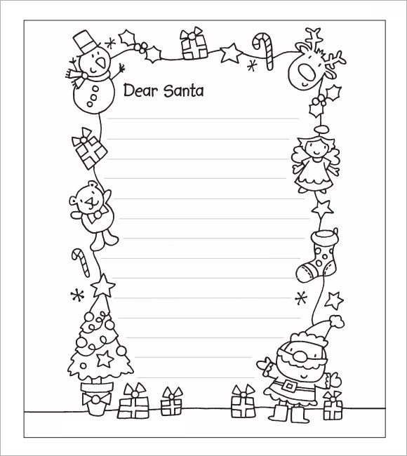 Santa Letter Template - 7+ Download Free Documents in PDF , Word