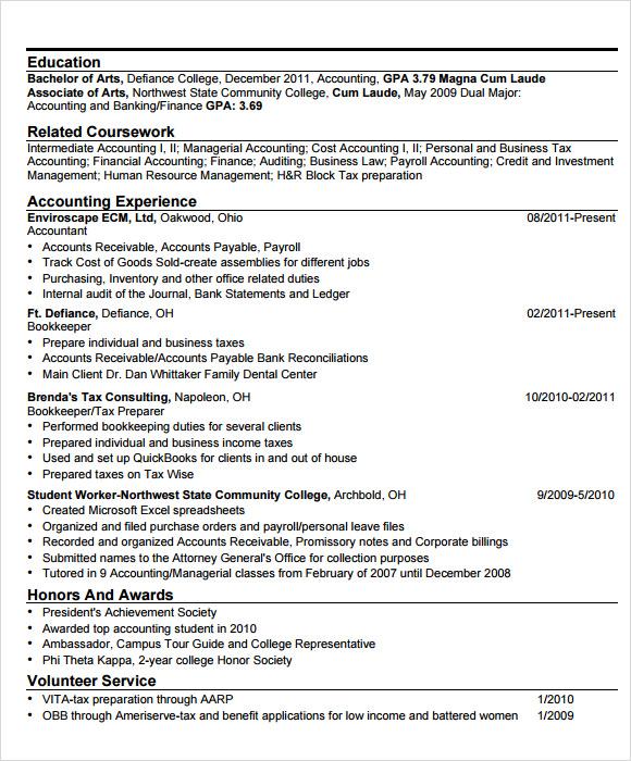 rit sample resume