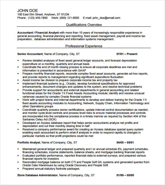 monash sample resume accounting