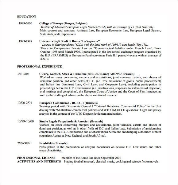 Lawyer Resume Templates - 5+ Download Free Documents in PDF , PSD ,Word