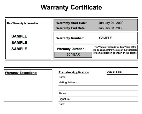 Warranty Certificate Template - 7 Download Free Documents in PDF ,PSD