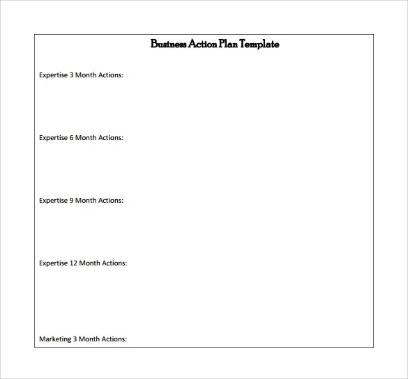 Sample Business Action Plan - 8+ Documents in Word, PDF - action plan template for business