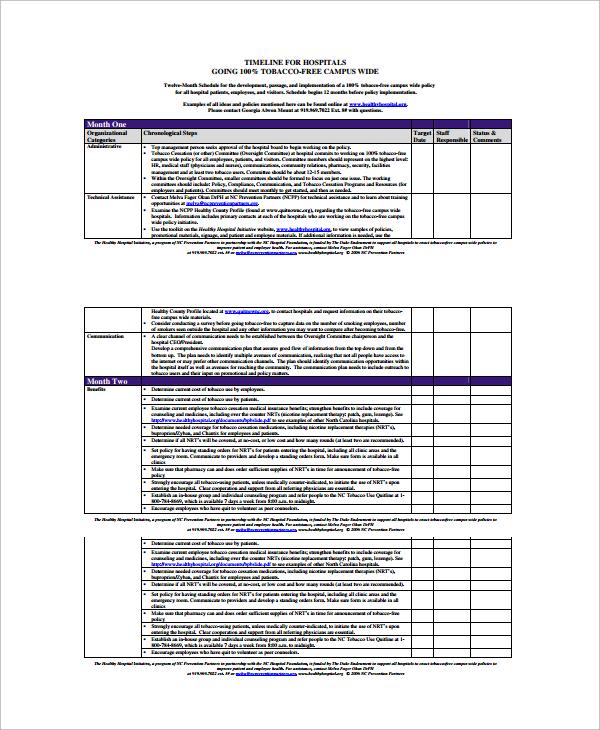 Event Timeline SampleSample Calendar Timeline Annual Marketing - event timeline sample