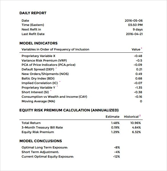 office report format