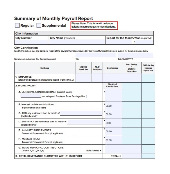 13+ Monthly Report Templates \u2013 Free Samples, Examples  Format - monthly report format