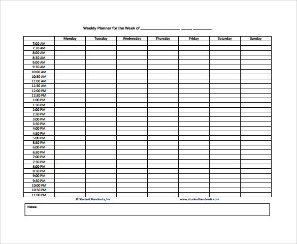 Sample Weekly Agenda - 6+ Documents In PDF, Word - weekly agenda