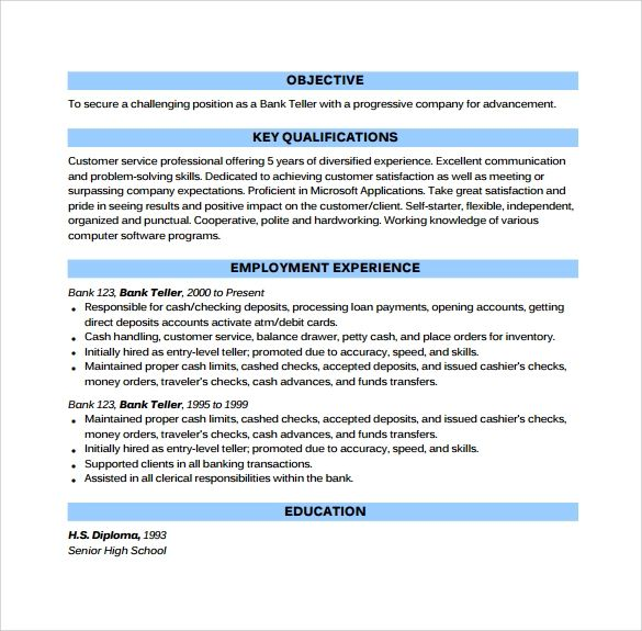 cashier skills for resume samples
