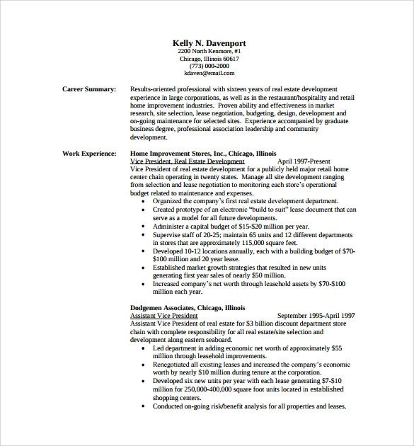 Sample Professional Resume Templates Professional Resume Example - example professional resumes