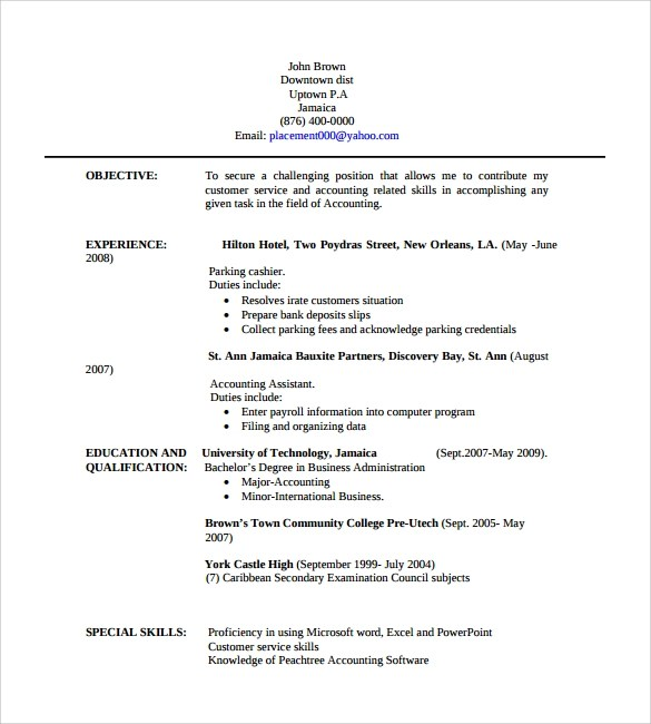 Executive Assistant Resume Example Sample Professional Resume – 9 Free Samples Examples Format