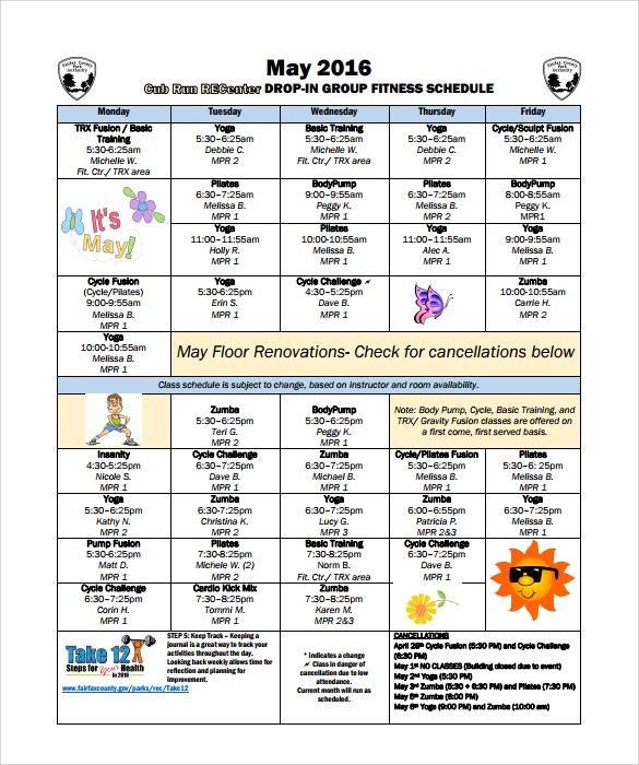 Workout Calendar u2013 8+ Free Samples, Examples, Format - sample workout calendar