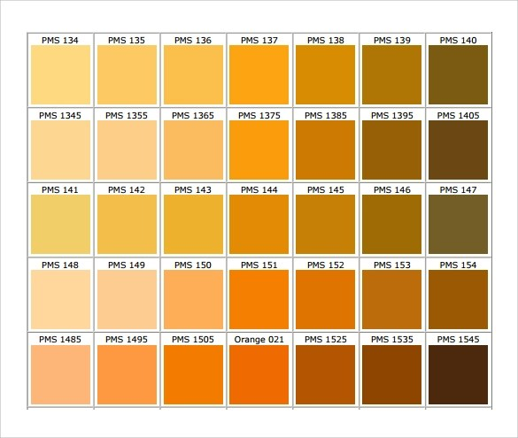 Sample Chart - 26+ Documents In PDF, Word - general color chart template