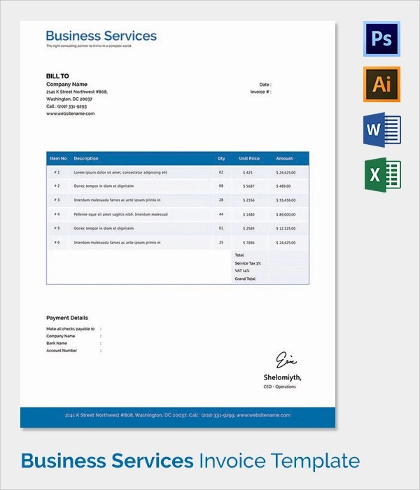 Download Electrical Invoice Template Uk – Electrician Invoice Template