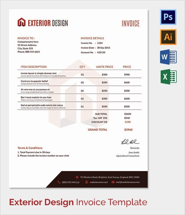 invoice template in excel 2010 | sample customer service resume, Invoice examples