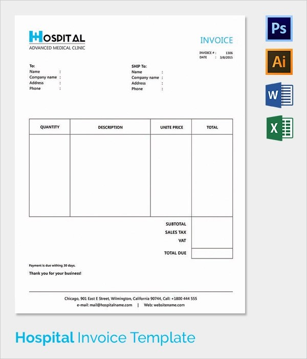 hospital invoice template - 28 images - hospital invoice related - it invoice template