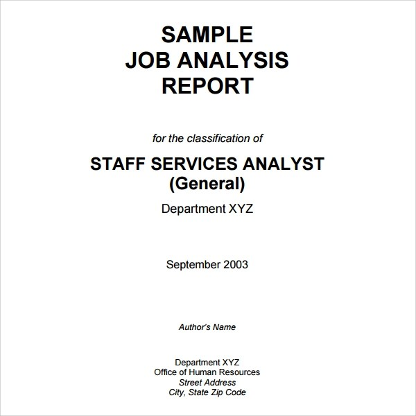 10+ Analysis Report Templates \u2013 Free Samples, Examples  Format - sample analysis report