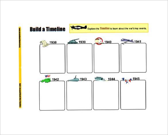 Sample Blank Timeline Template - 7+ Free Documents in PDF - career timeline template