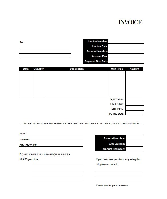 template for billing invoice - Minimfagency