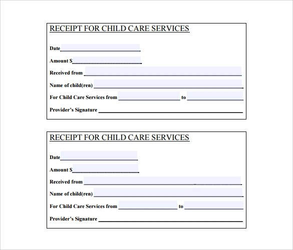 22 Blank Receipt Templates \u2013 Free Samples, Examples  Format - blank reciept