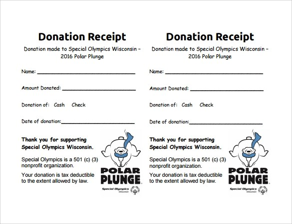 free non profit donation receipt template - Onwebioinnovate