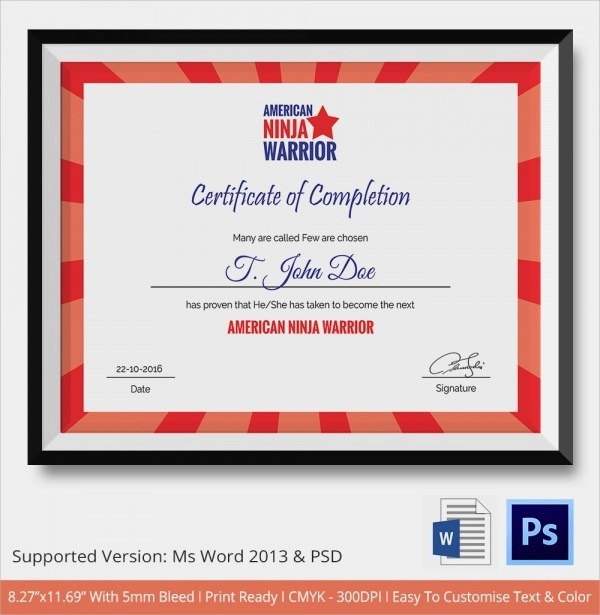 certificate of completion wording | hitecauto.us