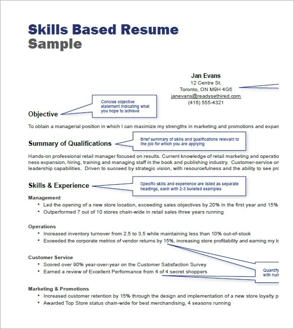 cv template skills based modern experience and skills based cv template careerone skills based resume sample