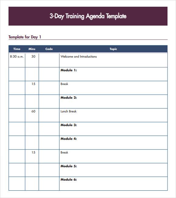 8+ Training Agenda Samples - PDF, Word