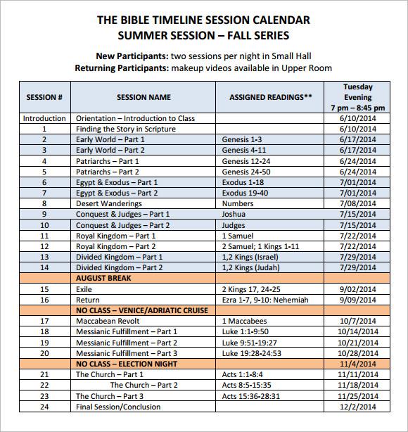 Sample Calendar Timeline 8 Calendar Timeline Templates Free Sample - calendar timeline template
