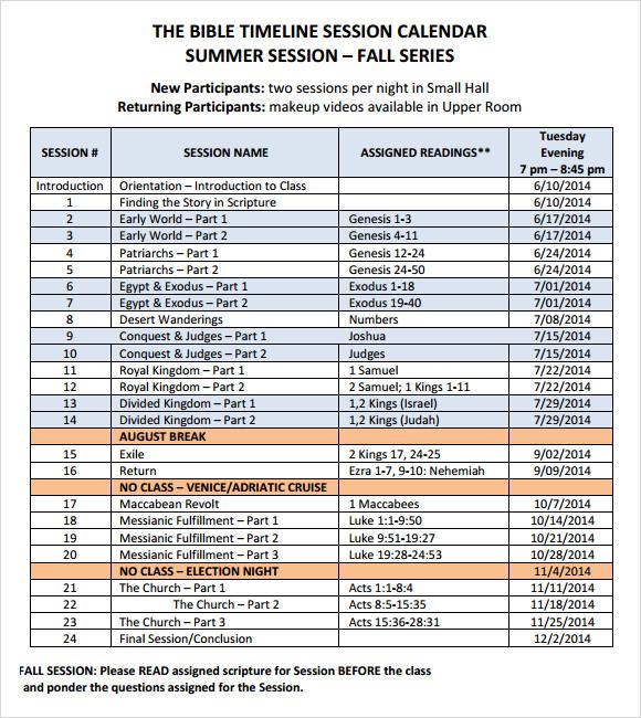 9+ Calendar Timeline Samples Sample Templates - calendar timeline template