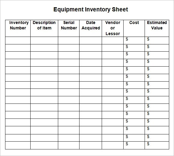 8+ Sample Inventory Sheets Sample Templates - Inventory Sheet Sample