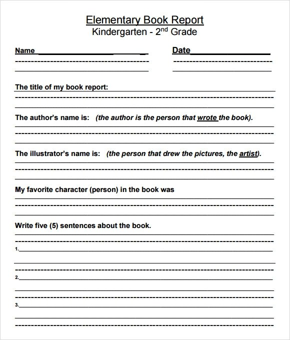 9+ Book Report Templates - Free Samples , Examples , Format - printable book report forms