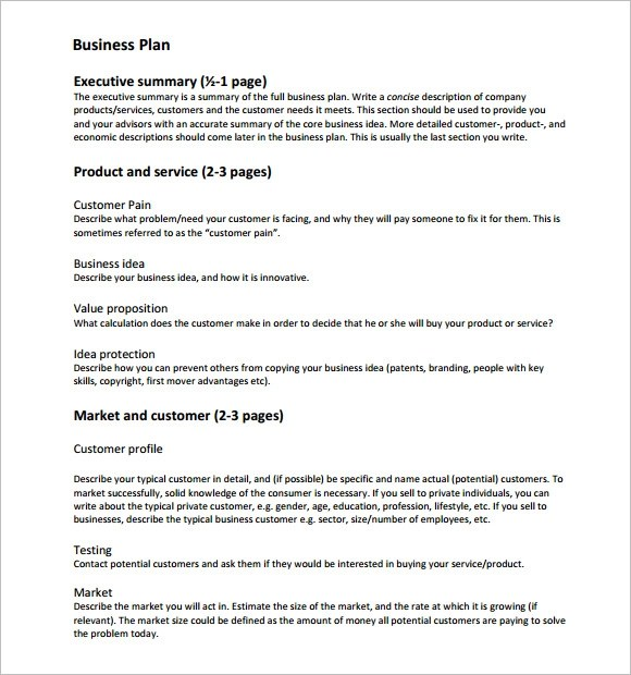 11 Business Plan Templates \u2013 Free Samples, Examples  Format - startup business plan template