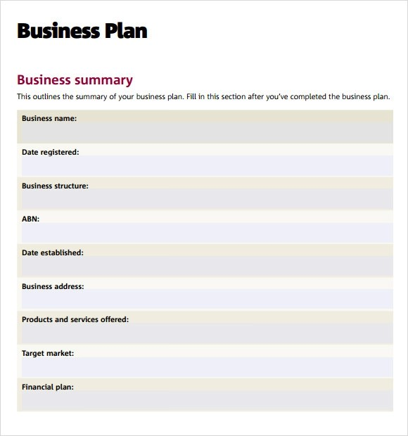 11+ Consulting Business Plan Templates Sample Templates