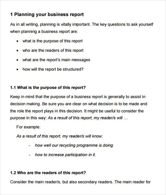 16+ Sample Business Reports Samples, Examples, Templates Sample - business reports examples