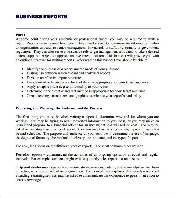 company report samples - Idealvistalist - company report template