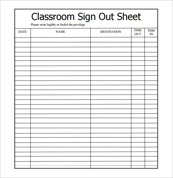 Bathroom Sign Out Sheet High School classroom bathroom sign out sheet