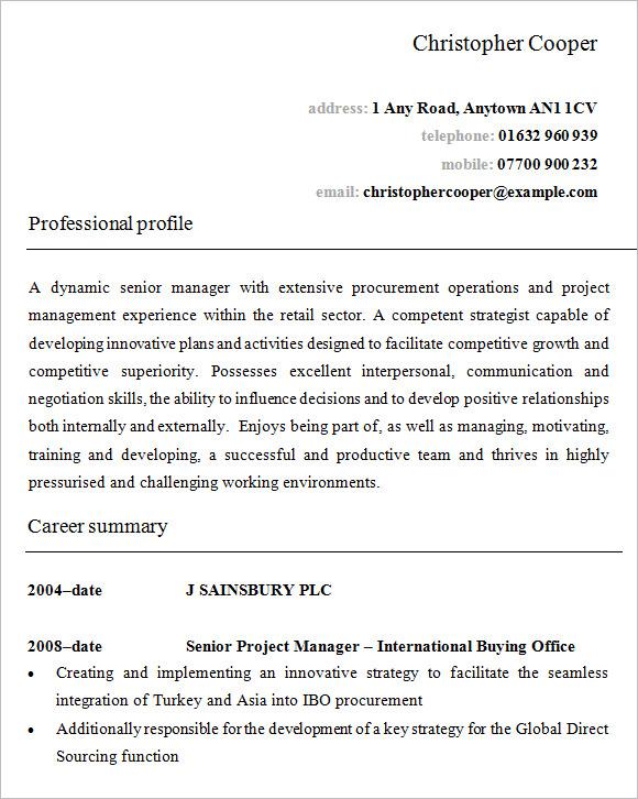 10 Retail Resume Templates \u2013 Samples , Examples  Format Sample