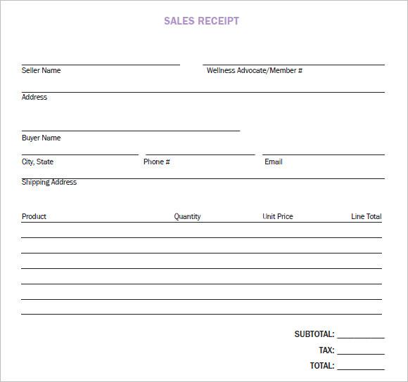 8+ Sales Receipt Templates \u2013 Free Samples, Examples, Format