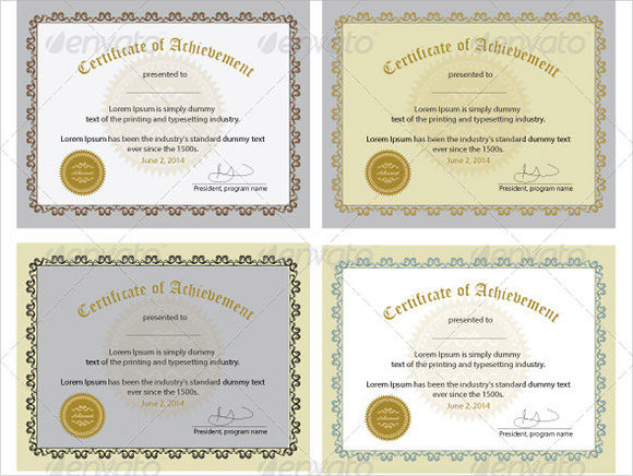 9 Certificate of Excellence Templates \u2013 Samples, Examples  Format